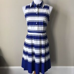 Milly crisp royal blue/white dress